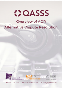 About Alternative Dispute Resolution (ADR)